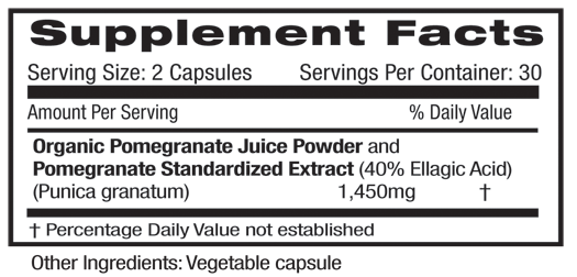 Emerald Pomegranate Supplement Facts