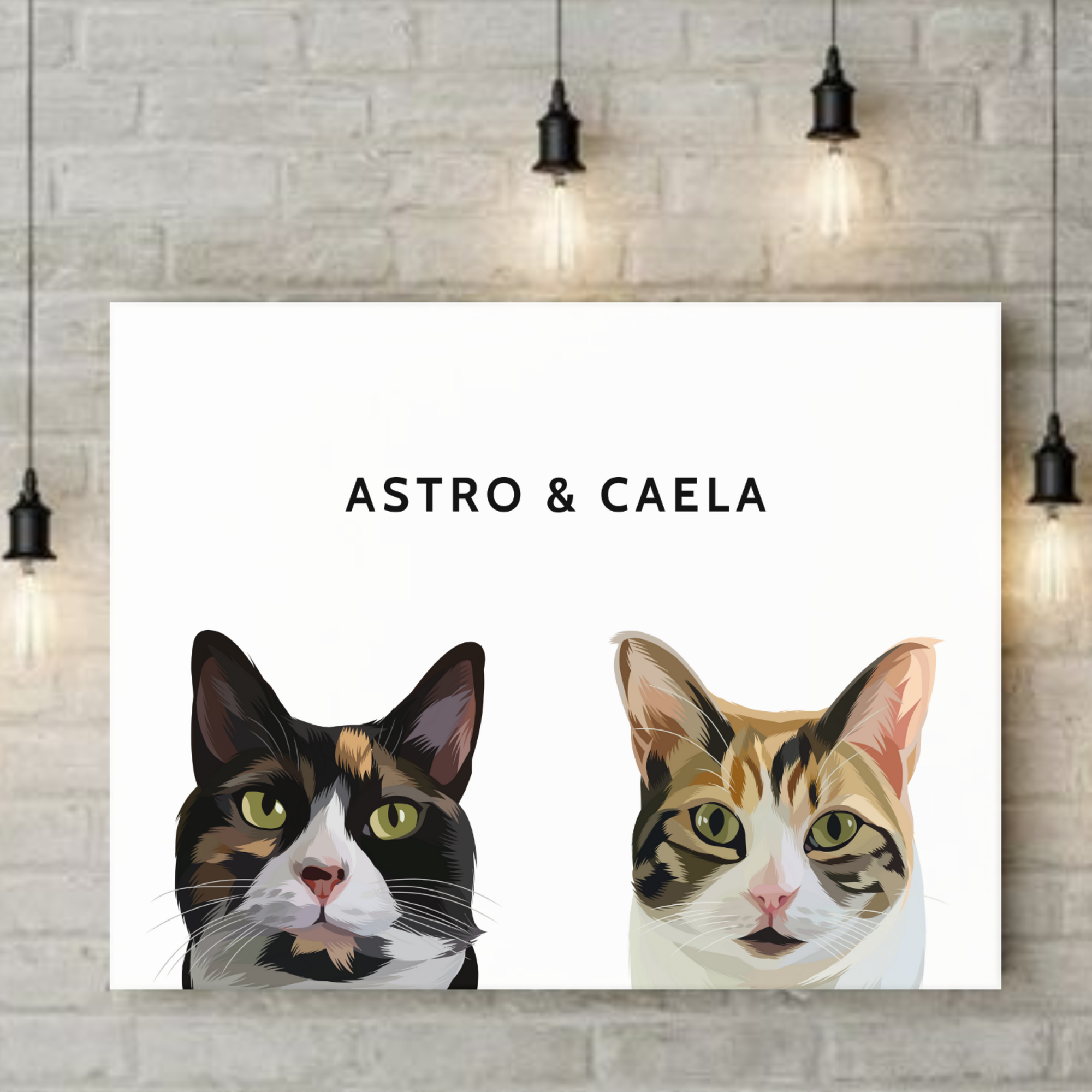 TWO PET PORTRAIT (CANVAS)