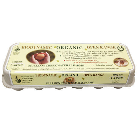 Eggs -Organic (600g) Mulloon Creek