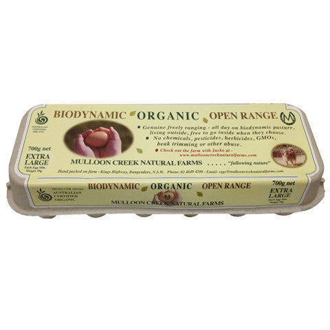 Eggs -Organic (700g) Mulloon Creek