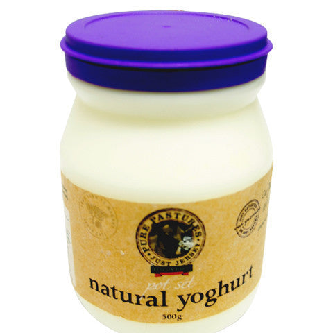 Yoghurt - Natural Jersey (500g) Harris Farm Pure Pastures Pot Set