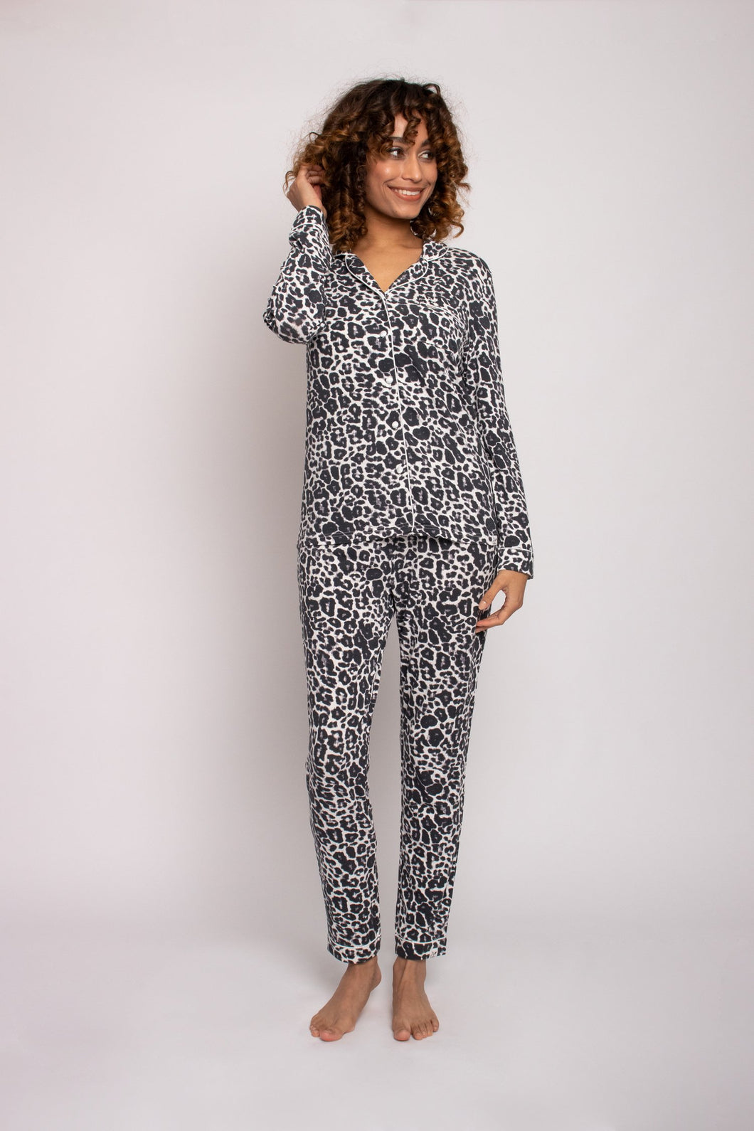 Pretty You London bamboo pyjama leopard