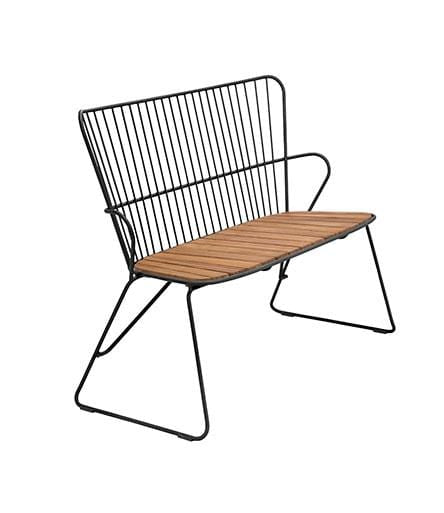 Paon Bench Outdoor Chair Black