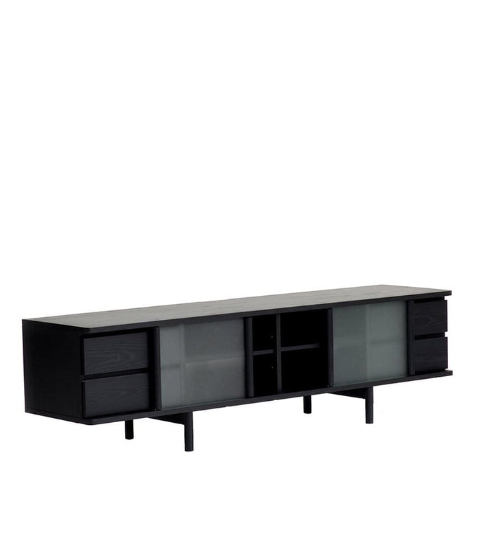 Rikyu TV Console in Sumi Ash