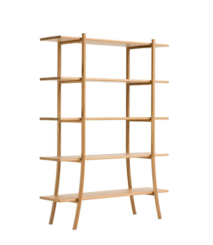 Skyladder Shelves Tall in Natural Oak