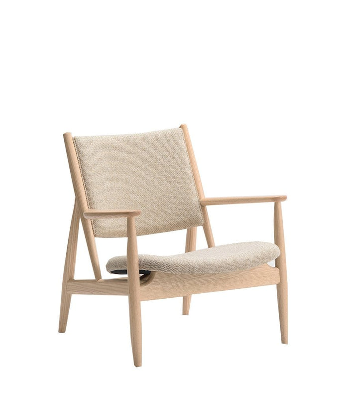 Summit Lounge Chair in Whiten Oak and Fabric