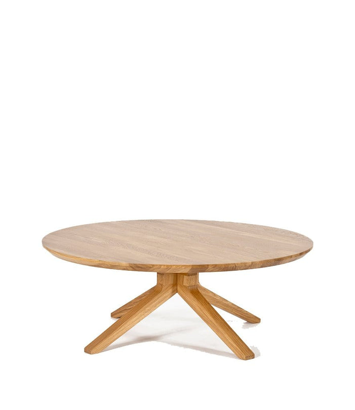Cross Round Coffee Table in Oak