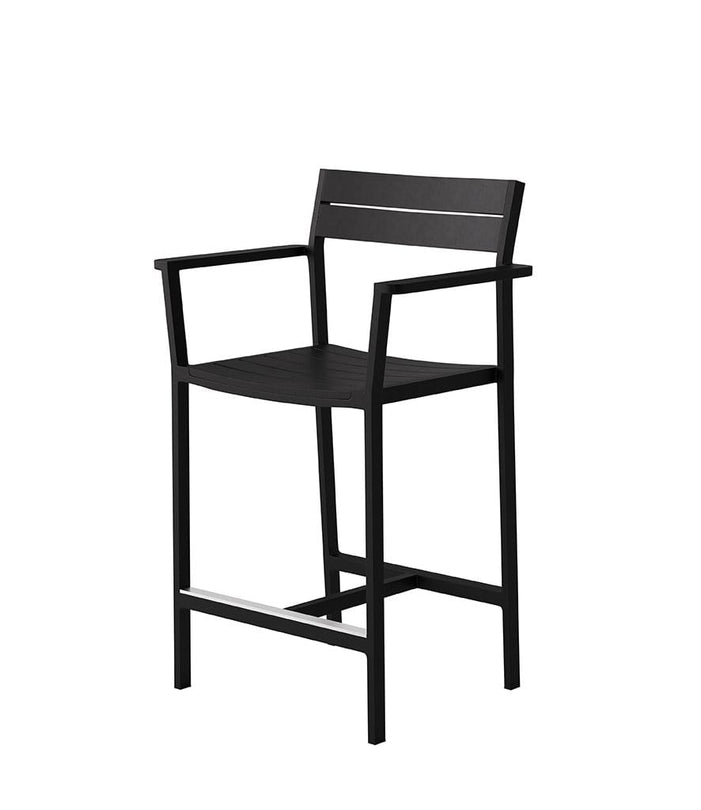 Eos Outdoor Counter Stool Black