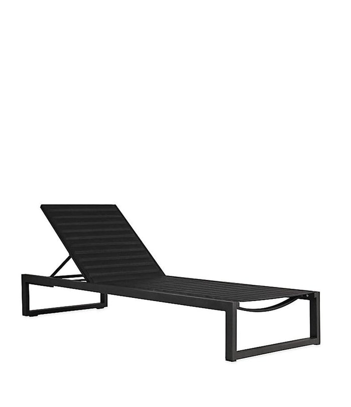 EOS Outdoor Sun Lounger Black