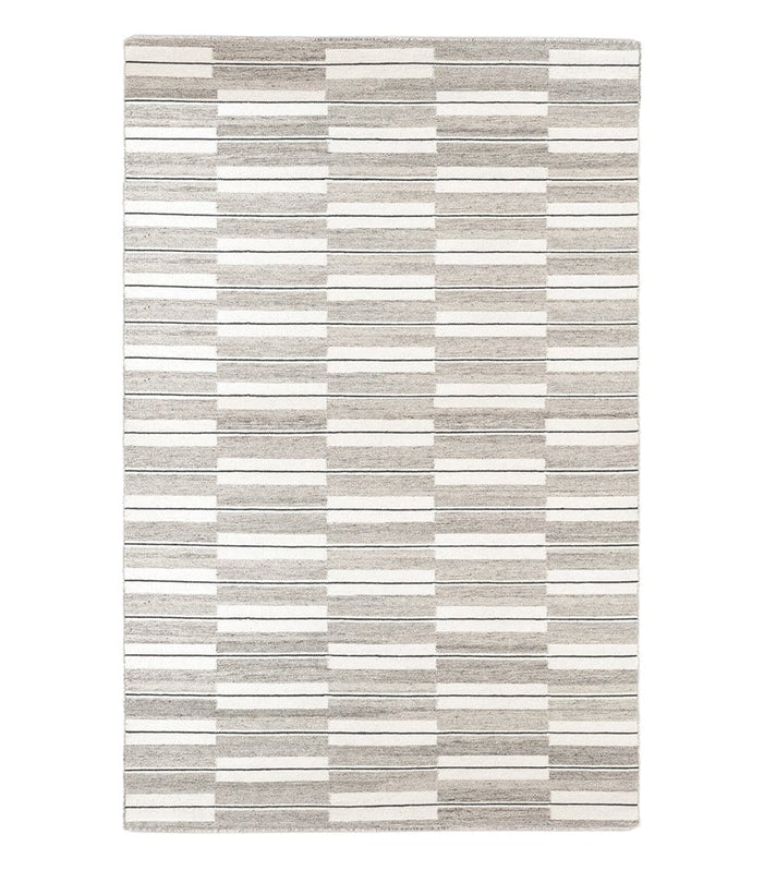 Spindle Flatweave Rug in Warm Grey