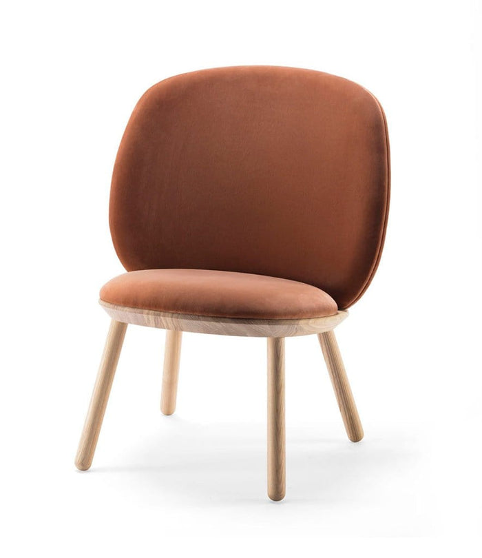 Naïve Low Chair, Terracotta Velour