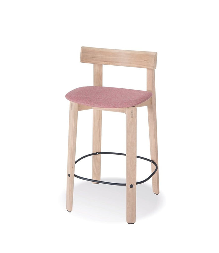 Nora Bar Chair with Backrest and Fabric Seat Low