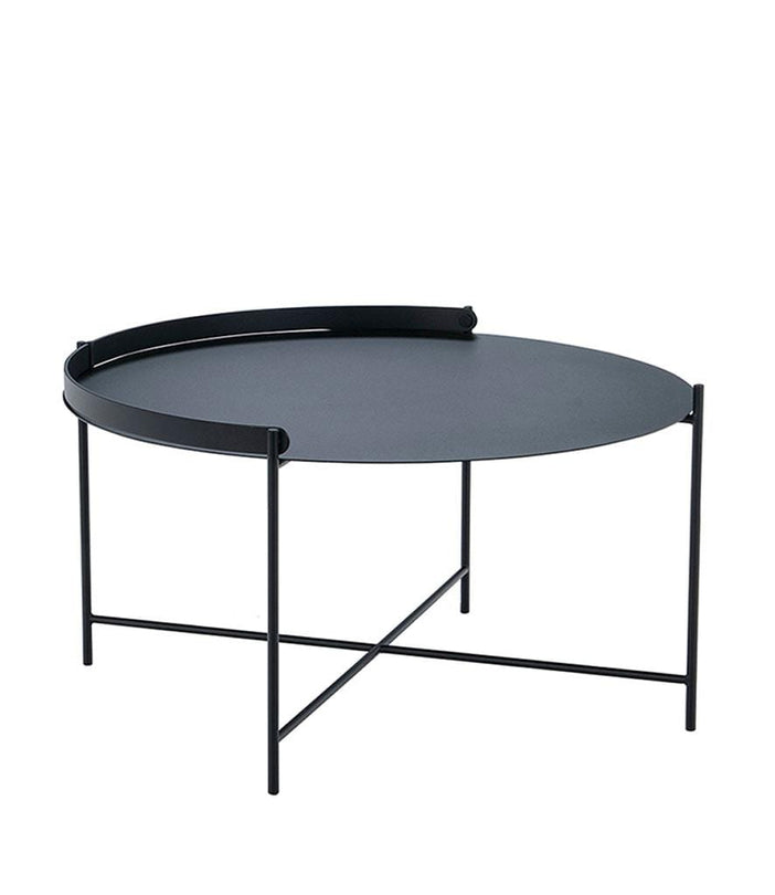 Edge Tray Outdoor Table Black Dia76