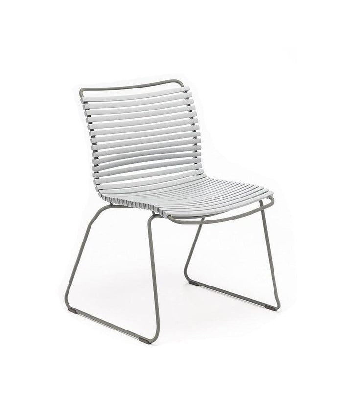 Click Dining Chair Outdoor No Armrest Grey