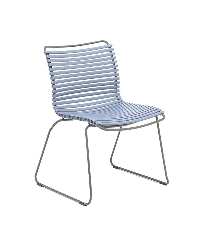 Click Dining Chair Outdoor No Armrest Pigeon Blue