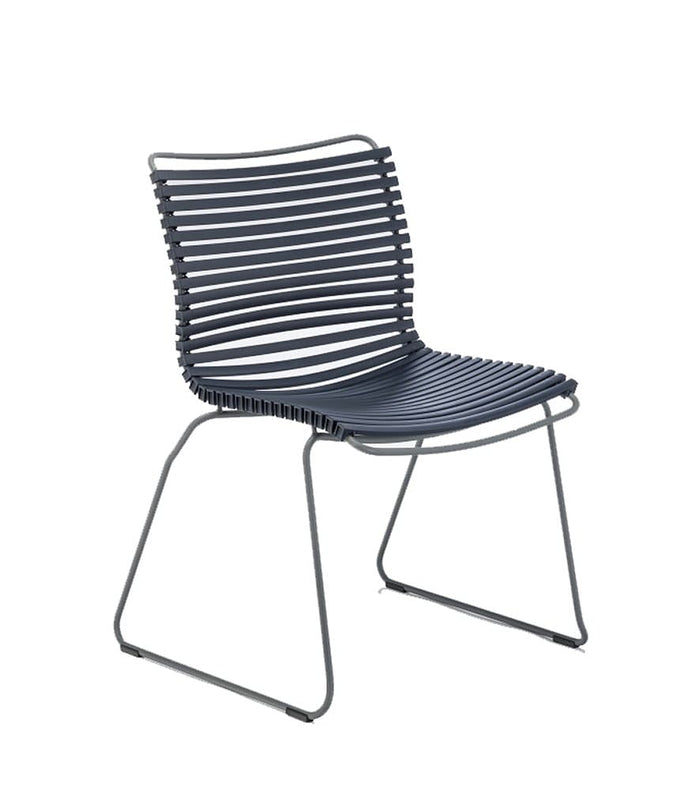 Click Dining Chair Outdoor No Armrest Dark Blue