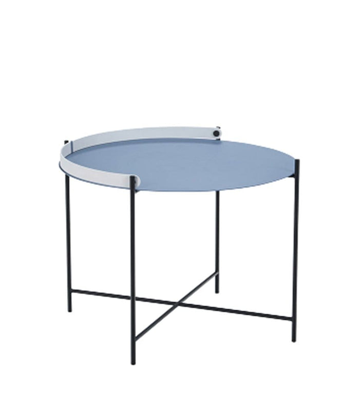 Edge Tray Outdoor Table Pigeon Blue Dia62