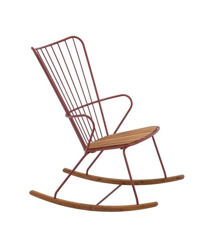 Paon Rocking Chair Outdoor Paprika