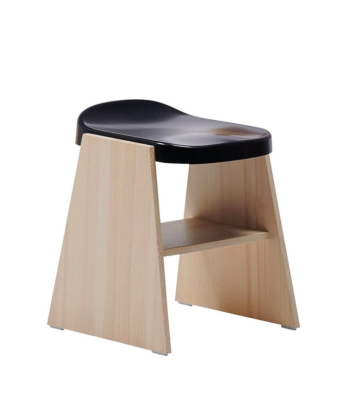 Fronda Low Stool Natural Pine with Black Steel
