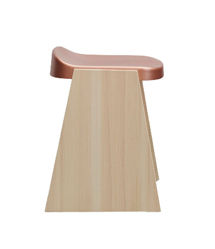 Fronda Low Stool Natural Pine with Copper Steel