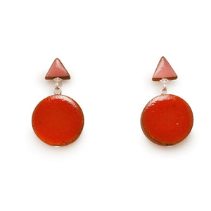 Double Shape Cherry Earrings