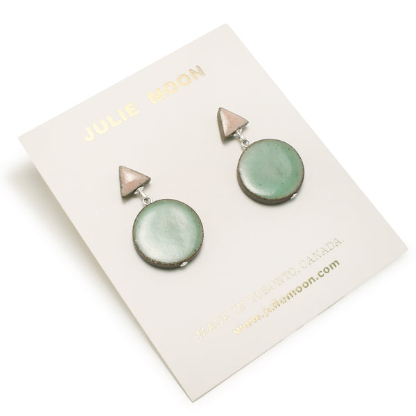 Double Shape Pastel Earrings
