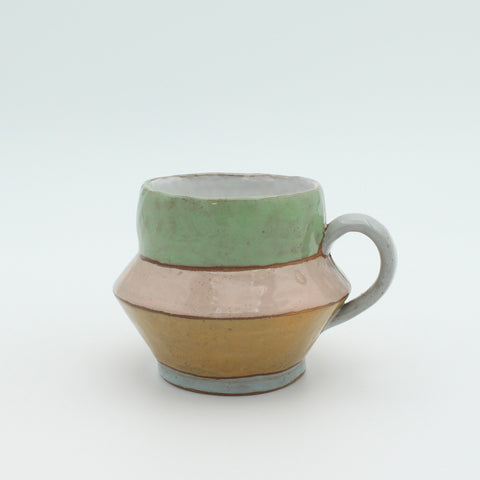 Large Pastel Colour Blocked Mug