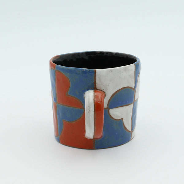 Checkered Flower Mug