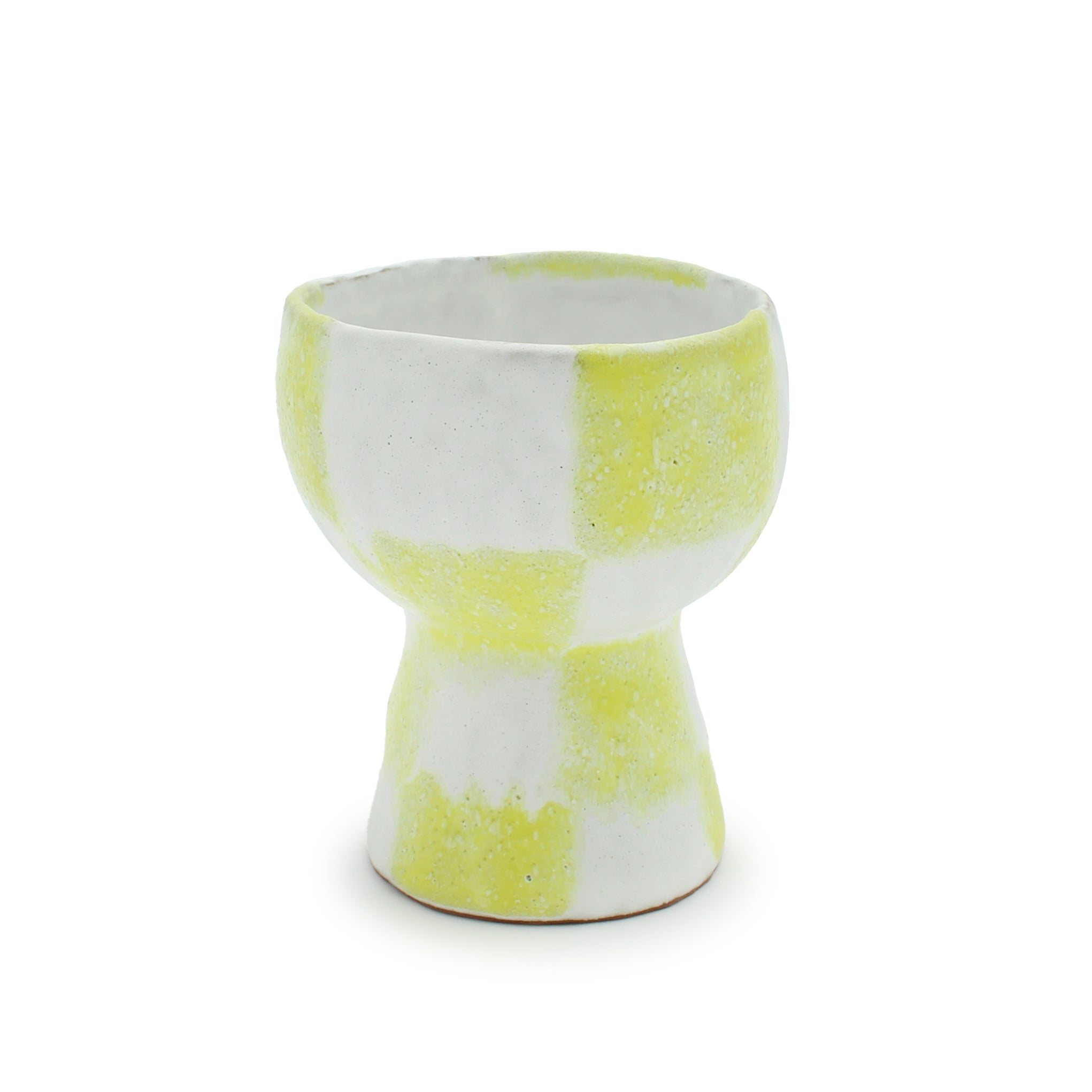 Yellow Checker Goblet