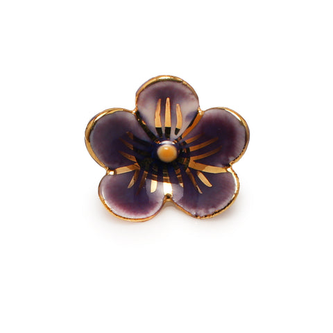 New Brunswick Purple Violet Pin