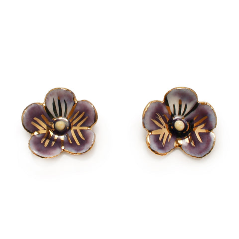 New Brunswick Purple Violet Earrings