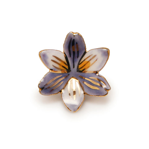 Quebec Blue Iris Pin