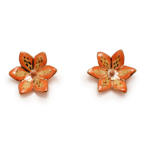 Saskatchewan Prairie Lily Earrings