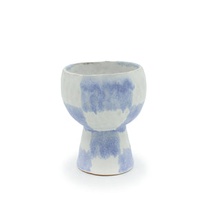 Blue Checker Goblet