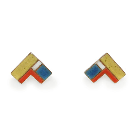 Corner Quilt Primary Earrings