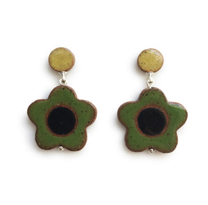 Daisy Earrings Green