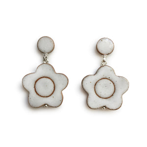 Daisy Earrings White