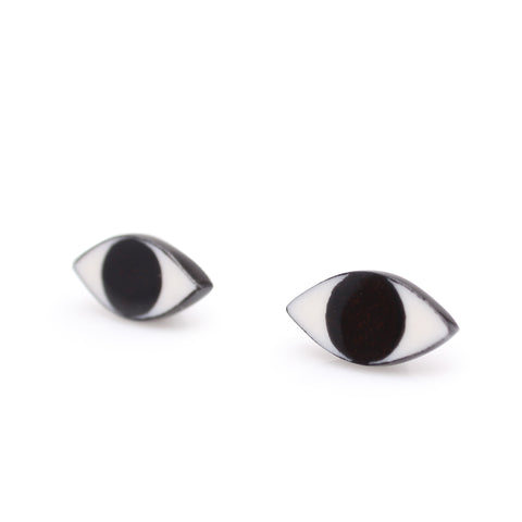 Evil Eye Earrings Black