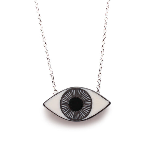 Evil Eye Pendant Black
