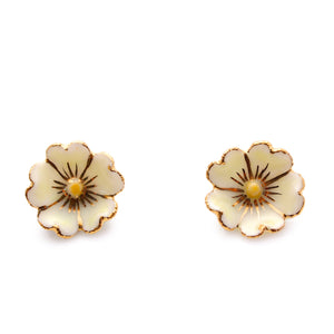 Yellow Cherry Blossom Earstud