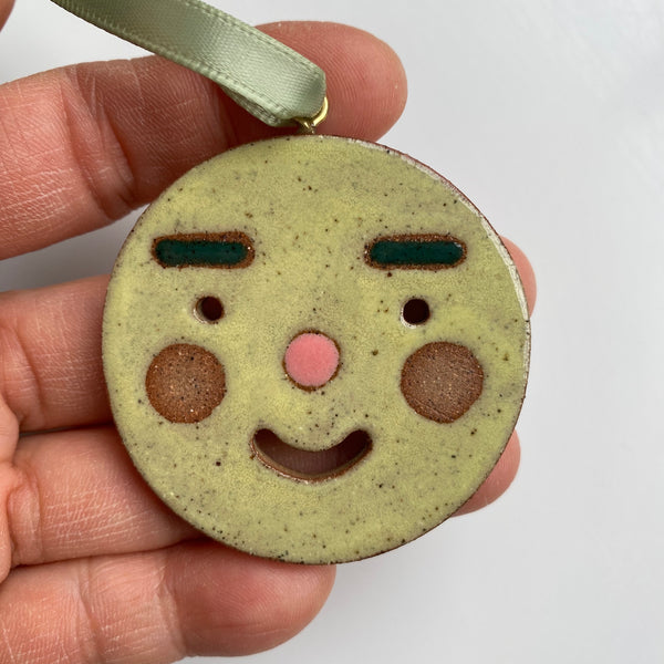 Friendly Face Ornament #1