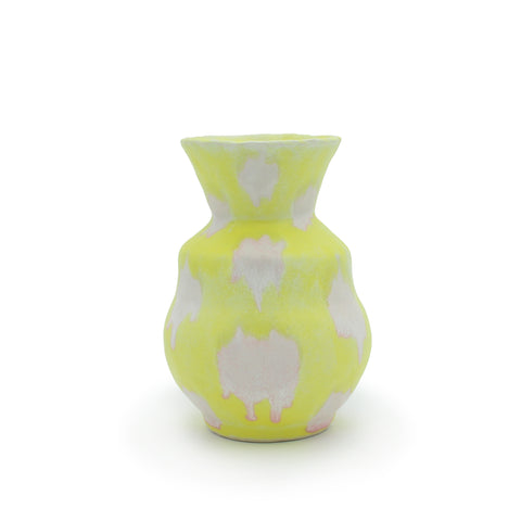 PinkGrapefruit on Yellow Vase