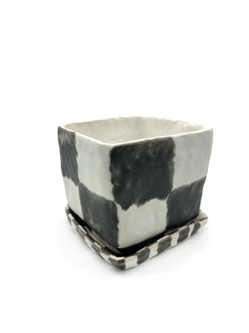 Small Checker Planter