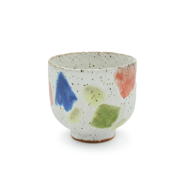 Speckle Vessel with Melted Shapes