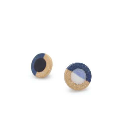 Disc Dip Earrings Blue
