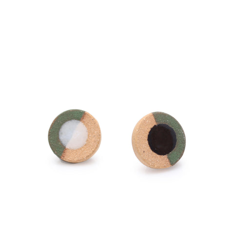 Disc Dip Earrings Green