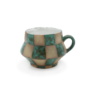 Checkered Mug Teal