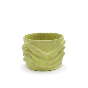 Yellow Vessel with Ripples