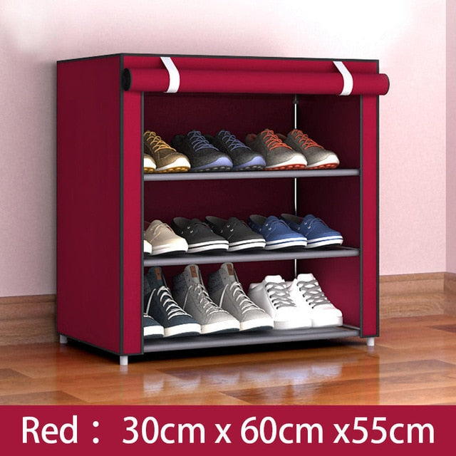 Multilayer Shoe Cabinet Dustproof Shoes Storage Closet Hallway Space-saving Shoerack Organizer Holder Home Furniture Shoe Rack