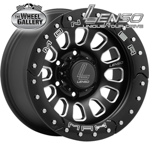 LENSO MAX MONSTER MATT BLACK BLK RING 16x8.5 6/139.7  +0 WHEEL